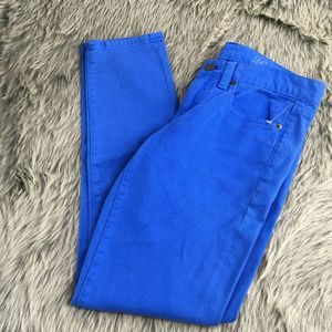 J.Crew Blue Toothpick Skinny Ankle Jeans 26  NWT